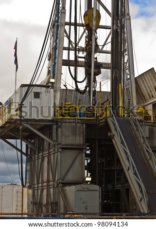 drilling rig detail - stock photo
