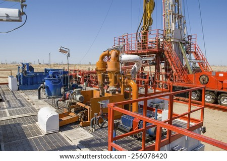 Drilling rig equipment - stock photo
