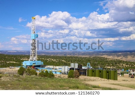 Drilling rig operating in North American Wilderness