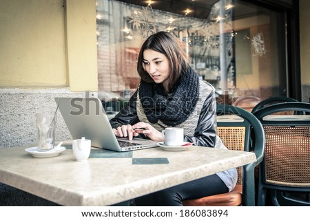 drink and wifi - stock photo