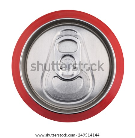 Drink can close up