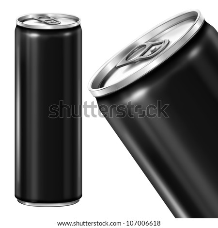 Drink can from blank aluminum. - stock photo