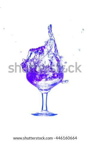 Drink Cocktail purple.  splash out from a glass on a white background. - stock photo