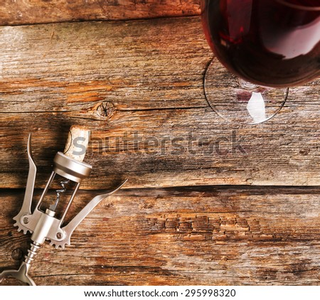 Drink. Delicious wine on the table - stock photo