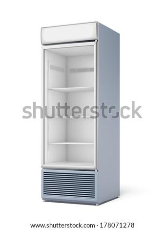 Drink display fridge - stock photo
