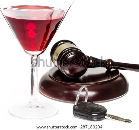 Drink driving DUI legal law concept image - stock photo