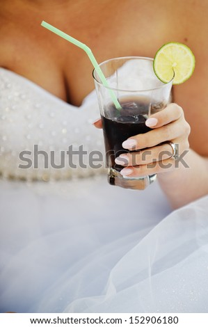 Drink held in women's hands