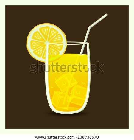 drink in glass with straw (vector version in portfolio)