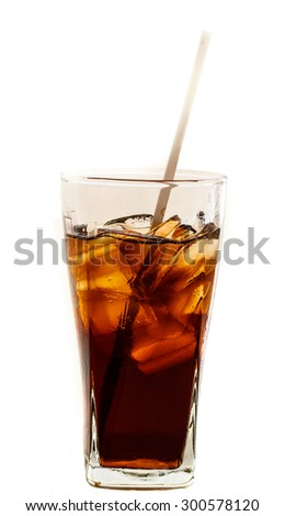 Drink on a white background