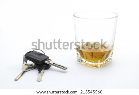 Drink or drive - stock photo