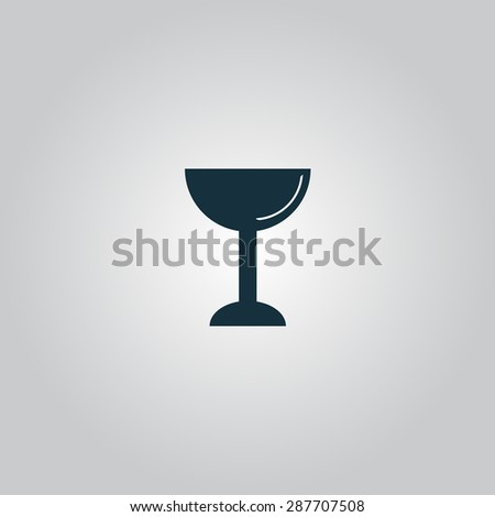 Drink - wineglass. Flat web icon or sign isolated on grey background. Collection modern trend concept design style illustration symbol - stock photo