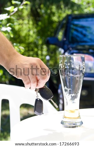 Drinking and Driving - Car keys and alcohol