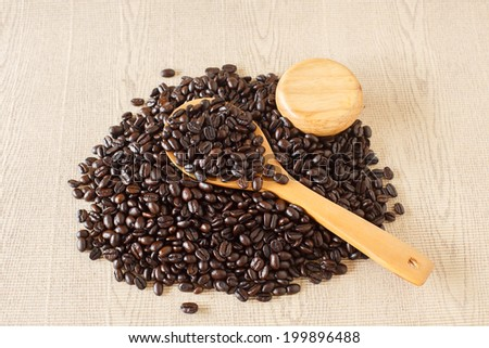 Drinking coffee beans forces for health,roasted coffee beans,Coffee cup and coffee beans,coffee beans isolated