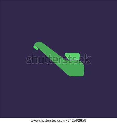 Drinking faucet. Colorful retro flat icon - stock photo