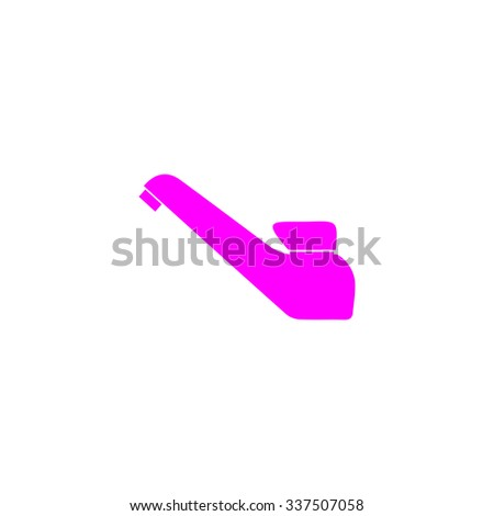 Drinking faucet. Pink icon on white background. Flat pictograph - stock photo