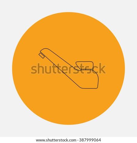 Drinking faucet. Simple flat icon on orange circle - stock photo