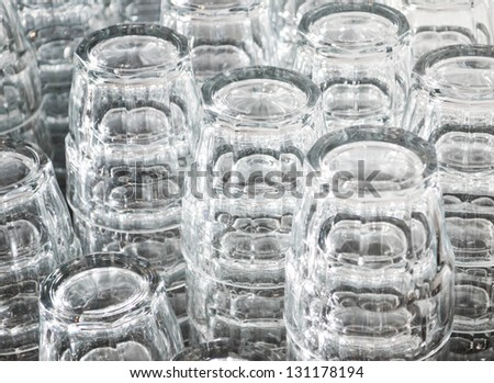 Drinking glasses background