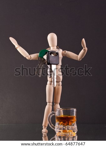 Drinking Responsibly with a Designated Driver - stock photo