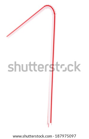 drinking straw on white