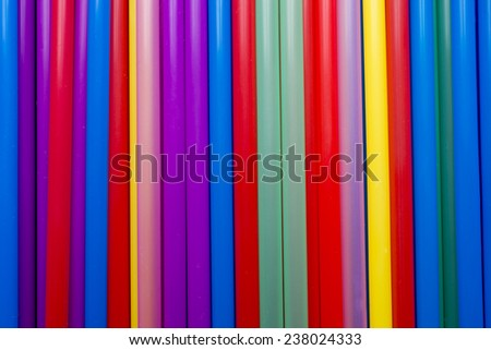 Drinking straws. Multi-colored, kitchen accessories.