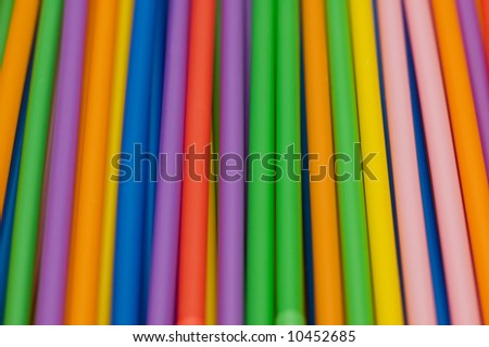 Drinking straws of many bright colors