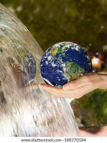 "drinking water crisis ""Elements of this image furnished by NASA ""  - stock photo"