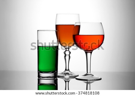 Drinks Colorful - stock photo