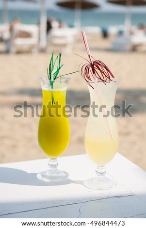 Drinks on the beach