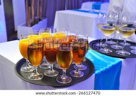Drinks on the party - stock photo