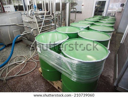 drinks production plant - stock photo