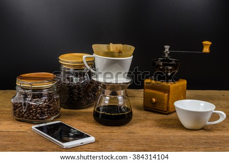 drip coffee kits and coffee bean