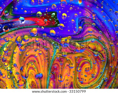 dripped on abstract background - stock photo