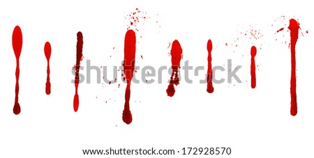 Dripping blood stains - stock photo