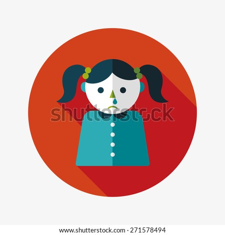 dripping nose flat icon with long shadow - stock photo