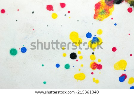 Dripping paint on paper - stock photo