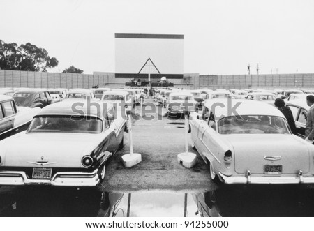 DRIVE-IN MOVIE - stock photo