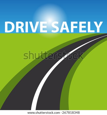 Drive safely background - stock photo