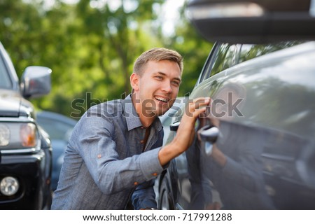 Driver checking the car before used or buy and sell,mechanic service