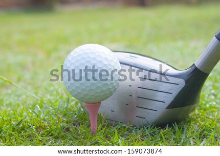 driver set in tee off