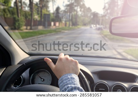 Driving car on empty streets