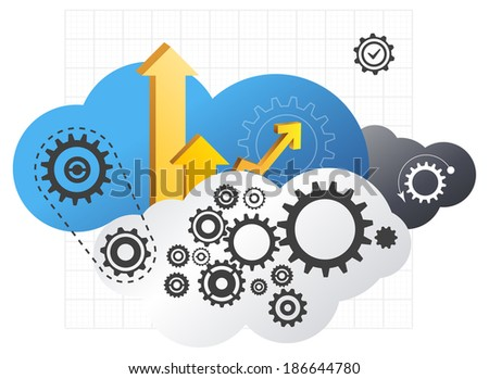 Driving Cloud Technology - Illustration - stock photo