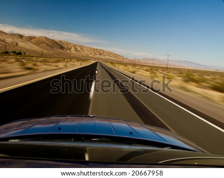 Driving fast - stock photo