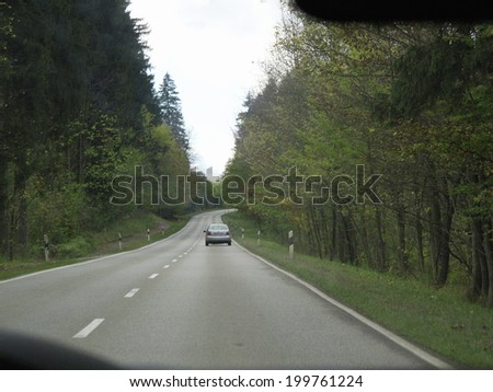 Driving In The Outskirts Of Germany Bavaria