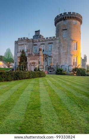 Dromoland castle at dusk - Ireland. - stock photo