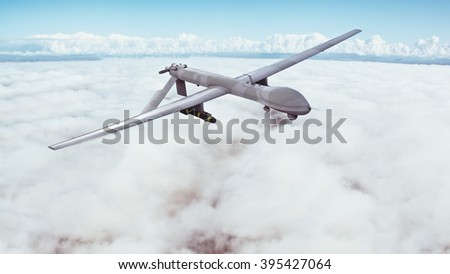 Drone - 3d render / Military aircraft