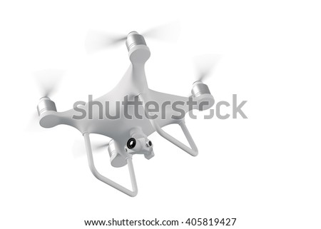 Drone fly the studio 3D illustration