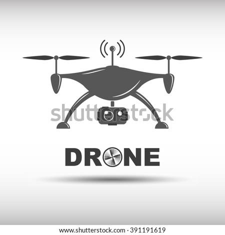 Drone Icon Graphic Picture Art Cartoon Image Quadcopter Remote