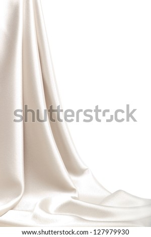 Drop-down satin fabric - stock photo