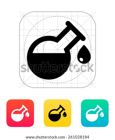 Drop from florence flask icon on white background. - stock photo