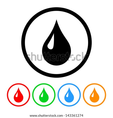 Drop Icon - Raster Version.Vector Also Available - stock photo